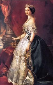 Empress Eugénie wearing a gown designed by Charles Frederic Worth Wikimedia Commons