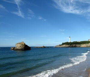 Plage du Phare. The Villa Eugénie was built overlooking this beach